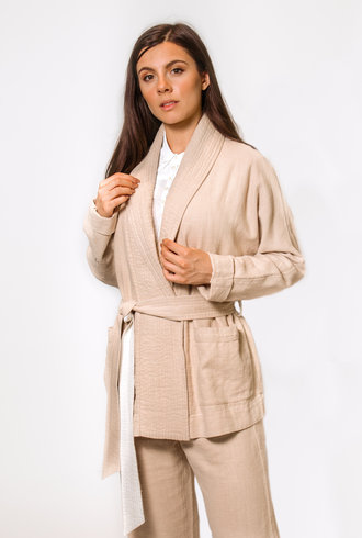 The Great The Cabin Tie Jacket Cream