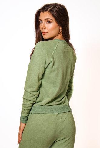 The Great The Shrunken Sweatshirt Heathered Sea Green