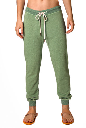 The Great The Cropped Sweatpants Heather Sea Green