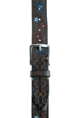 Orciani Patch Pattern Belt Unique