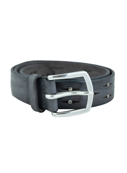 Orciani Soft Bull Belt with Studs Londra Grey