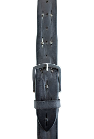 Orciani Soft Bull Belt with Studs Londra Grey