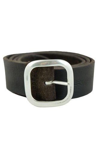 Orciani Hunting Double Belt T. Moro Chocolate