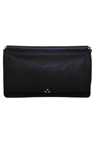 Jerome Dreyfuss Clutch Noir Silver