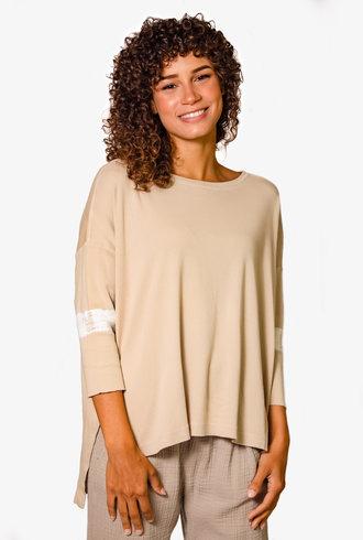 Raquel Allegra Cocoon Shirt Sand