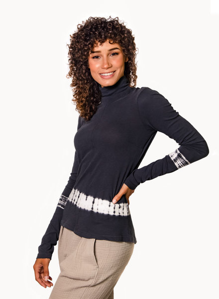 Raquel Allegra Long Sleeve Turtleneck Charcoal