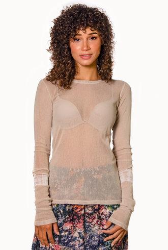 Raquel Allegra Long Sleeve Tee Sand