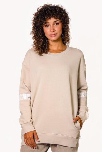 Raquel Allegra Oversize Sweatshirt Sand