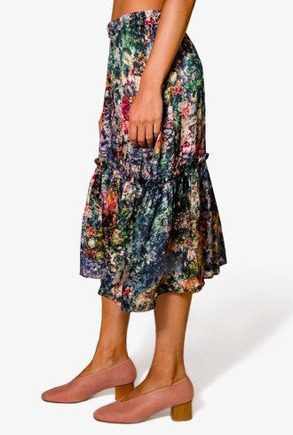 Raquel Allegra Romance Skirt Teal