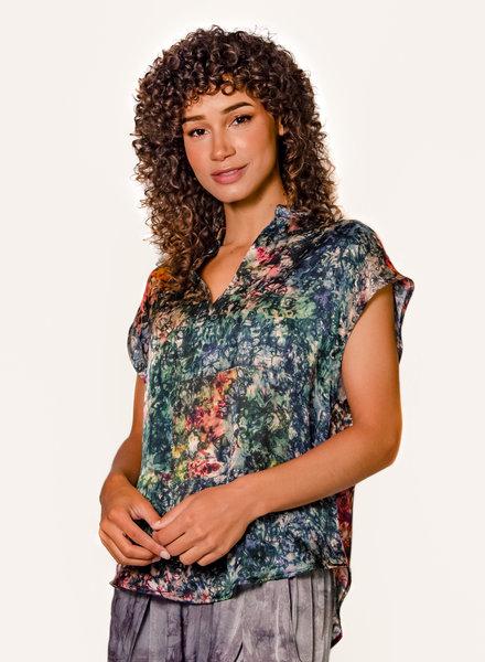 Raquel Allegra Fez Blouse Teal