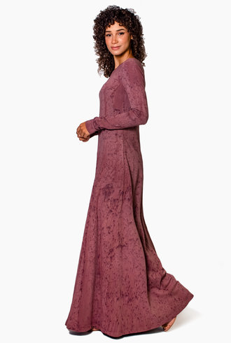 Raquel Allegra Rhea Dress Dark Blush