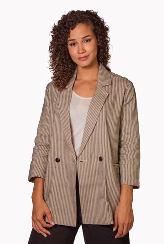 The Great The Slouch Blazer Frontier Stripe
