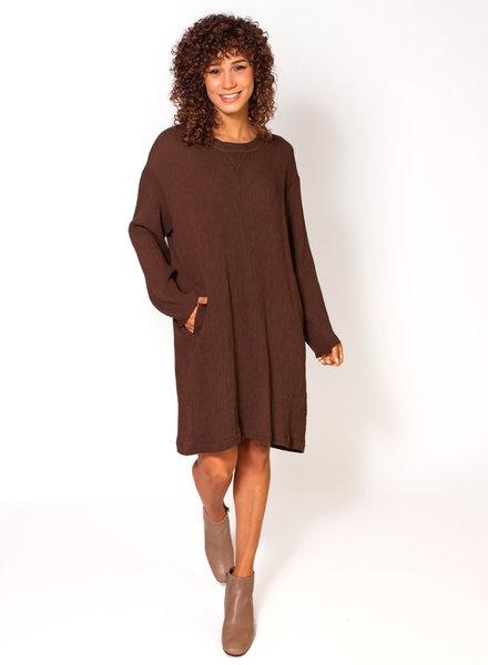 Raquel Allegra Varsity Dress Olive