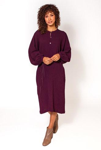 Raquel Allegra Getty Dress Plum