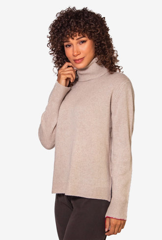 Raquel Allegra Turtleneck Sand