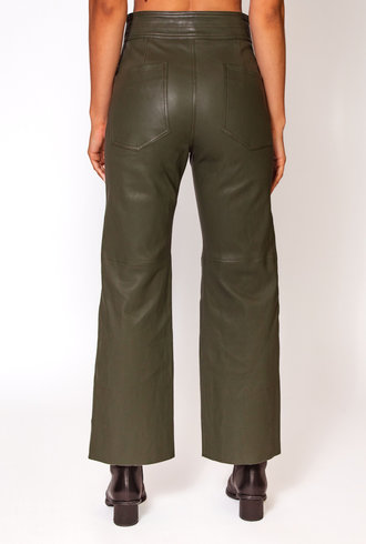 Apiece Apart Monterey Leather Pant Forest