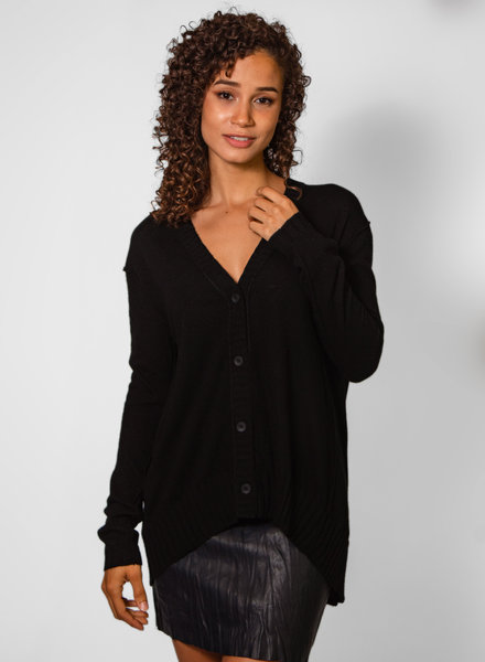 Inhabit Relaxed Cardi Black