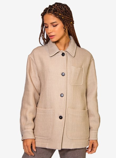 Pomandere Doppiafollata Jacket Dirty White