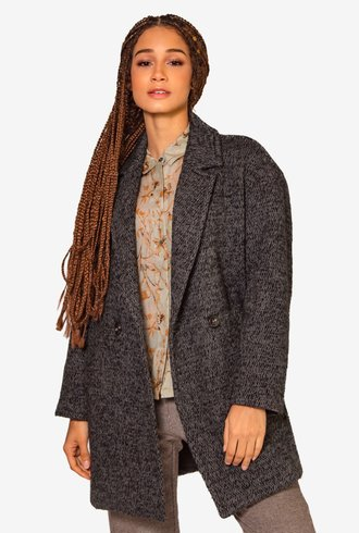 Pomandere Short Coat Lana Cashmere