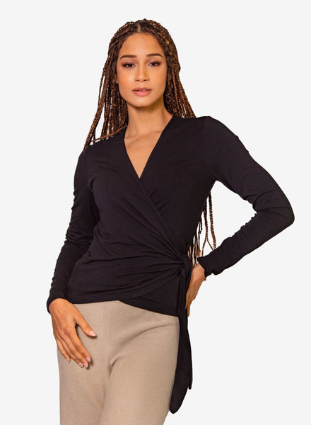 Nikky McBridget Wrap Shirt Black