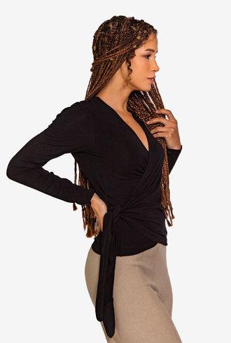 Nikky McBridget Wrap Shirt Black