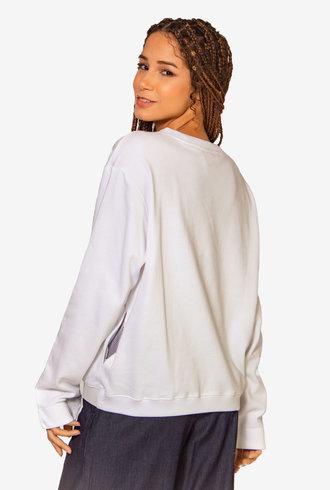 Nikky McBridget Basic Sweatshirt White
