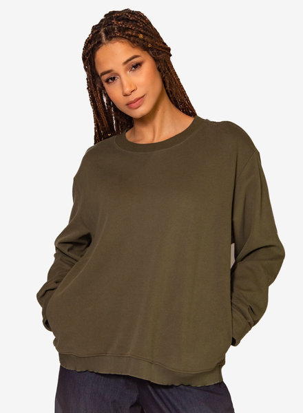 Nikky McBridget Basic Sweatshirt Green