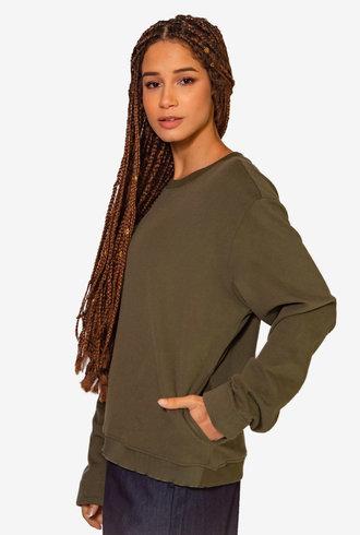 Nikky McBridget Basic Sweatshirt Green