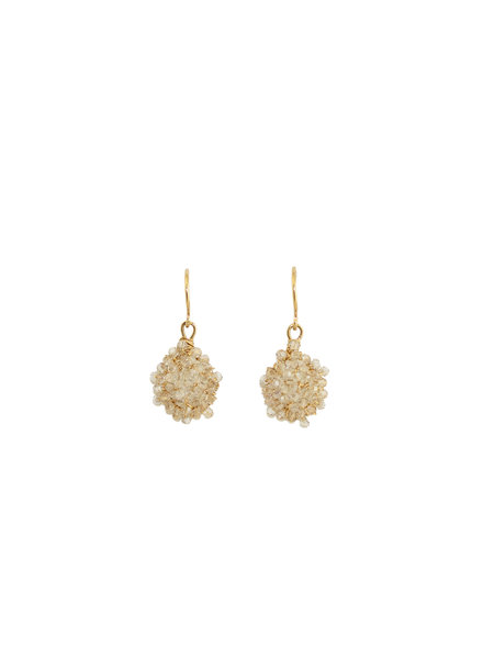 Dana Kellin Fashion Crystal and Gold Earrings