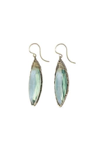 Dana Kellin Fashion Aqua Quartz and Silver Earrings