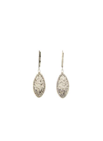 Dana Kellin Fashion Crystal and Sterling Silver Earrings