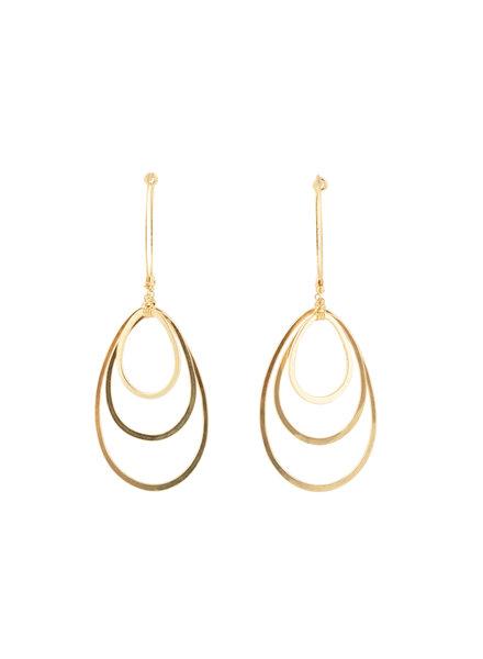 Dana Kellin Fashion Gold Raindrop Earrings