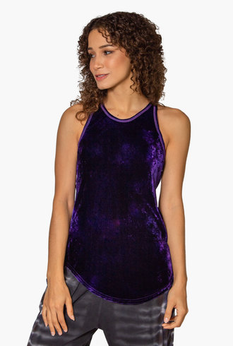 Raquel Allegra Perfect Bias Tank Purple Cloud