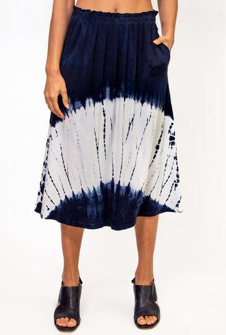 Raquel Allegra Skirt Tie Die Indigo/White Hilma