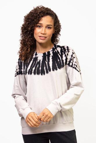 Raquel Allegra Classic Sweatshirt Tie Dye White/Black Hilma
