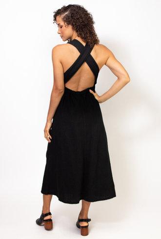 Raquel Allegra Apron Dress Black