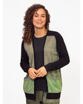 Raquel Allegra Cardigan Army Horizon Tie Dye