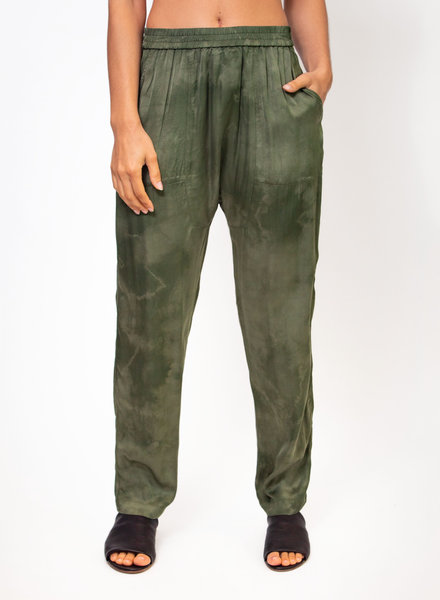 Raquel Allegra Sunday Pant Army Cloudwash