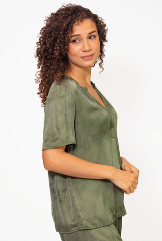 Raquel Allegra Lilakoi Blouse Tie Dye Cloudwash