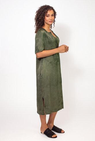 Raquel Allegra Lilakoi Dress Tie Dye Army  Cloudwash