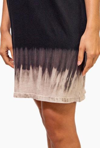 Raquel Allegra Layering Tank Dress Black Horizon Tie Dye