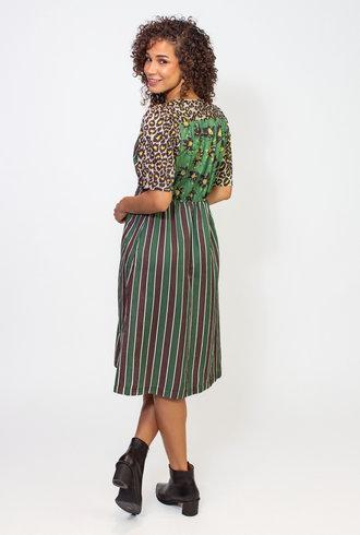 Raquel Allegra Multi Printed Silk Cotton Eva Dress