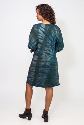 Raquel Allegra Moss Aqua Getty Dress