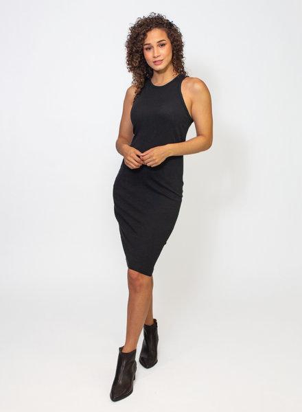 Raquel Allegra Black Racerback Dress