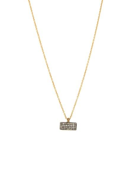 Dana Kellin Fine Pave Diamond Pendant with 14k Gold Chain