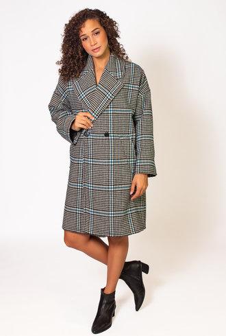 Pomandere Plaid Wool Coat
