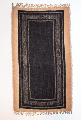 Pomandere Embroidered Scarf Black