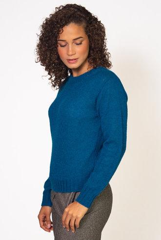 Pomandere Cobalt  Blue Wool Sweater