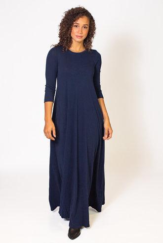 Raquel Allegra Drama Maxi Dress Navy