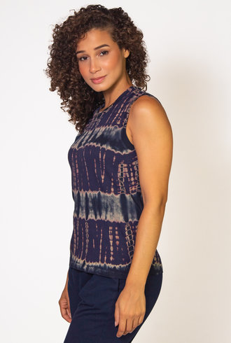 Raquel Allegra Fitted Muscle Tee Navy